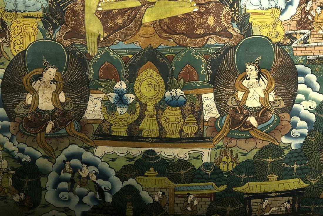 Early 20th C. Tibetan Thangka - Life of Buddha - 6