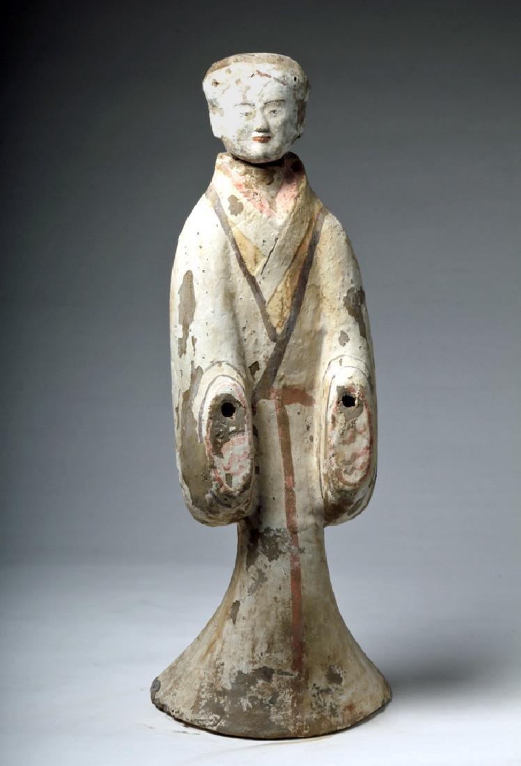 """Chinese Han Dynasty Female Tomb Attendant - 29""""H"""