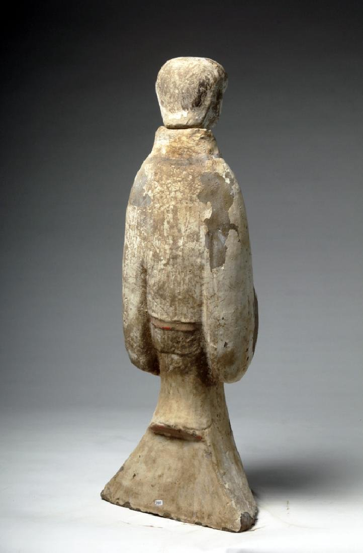 """Chinese Han Dynasty Female Tomb Attendant - 29""""H - 3"""