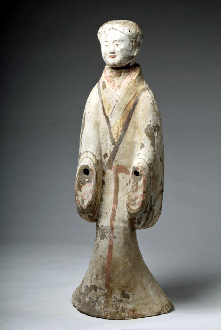 """Chinese Han Dynasty Female Tomb Attendant - 29""""H - 5"""