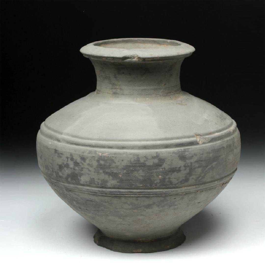 Chinese Han Dynasty Grayware Jar
