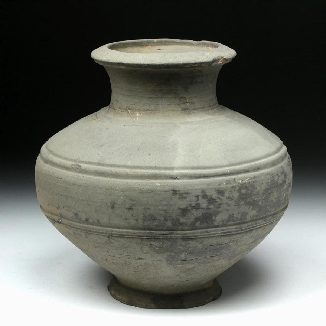 Chinese Han Dynasty Grayware Jar - 2