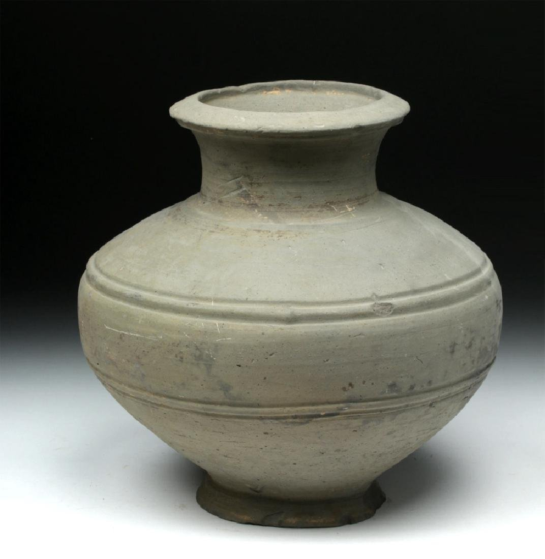 Chinese Han Dynasty Grayware Jar - 3