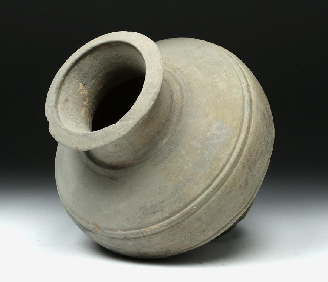 Chinese Han Dynasty Grayware Jar - 5