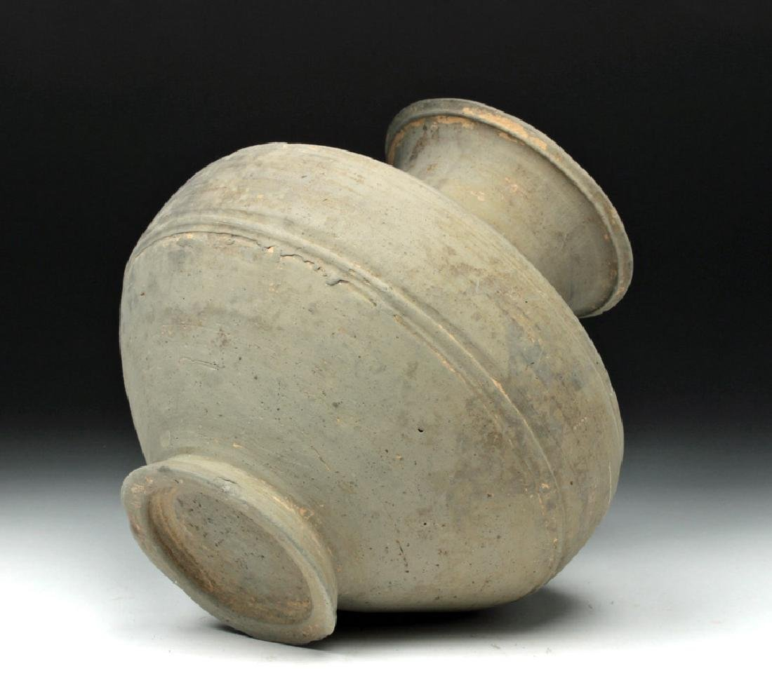 Chinese Han Dynasty Grayware Jar - 6