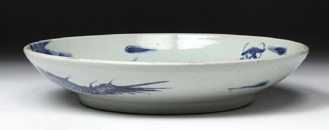 Chinese Ming Dynasty Blue on White Shallow Bowl - 4
