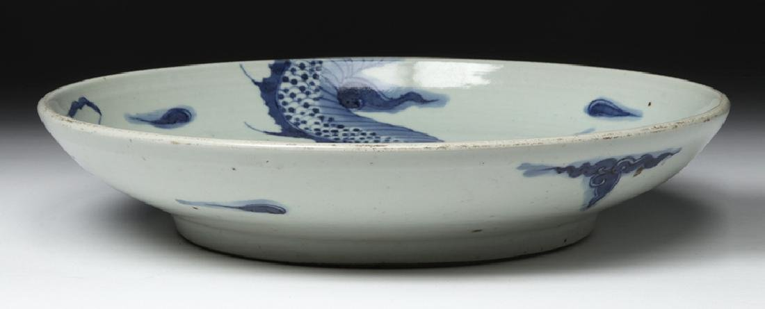 Chinese Ming Dynasty Blue on White Shallow Bowl - 5