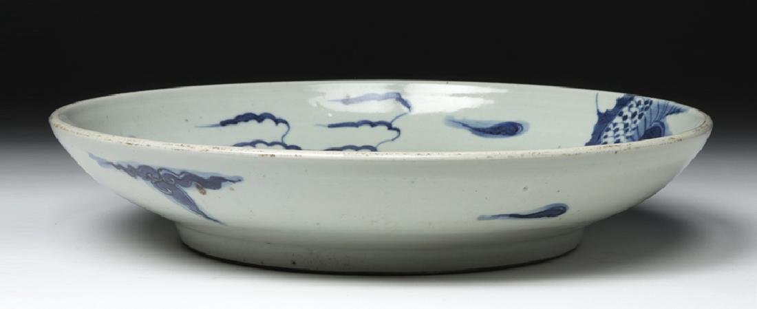 Chinese Ming Dynasty Blue on White Shallow Bowl - 6
