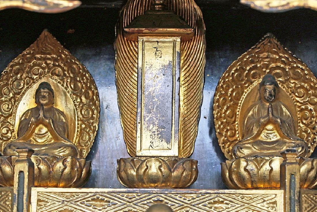 19th C. Japanese Gilded / Lacquered Wood Shrine - 5