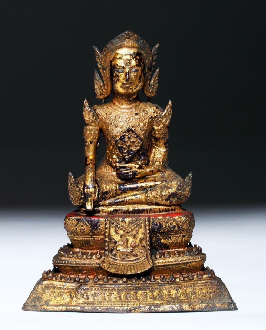 19th C. Thai Gilded Bronze Statue - Prince Siddharta
