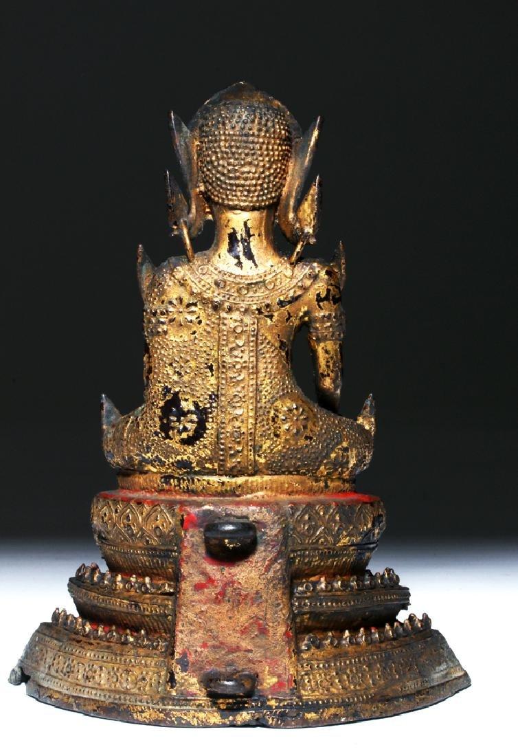 19th C. Thai Gilded Bronze Statue - Prince Siddharta - 2