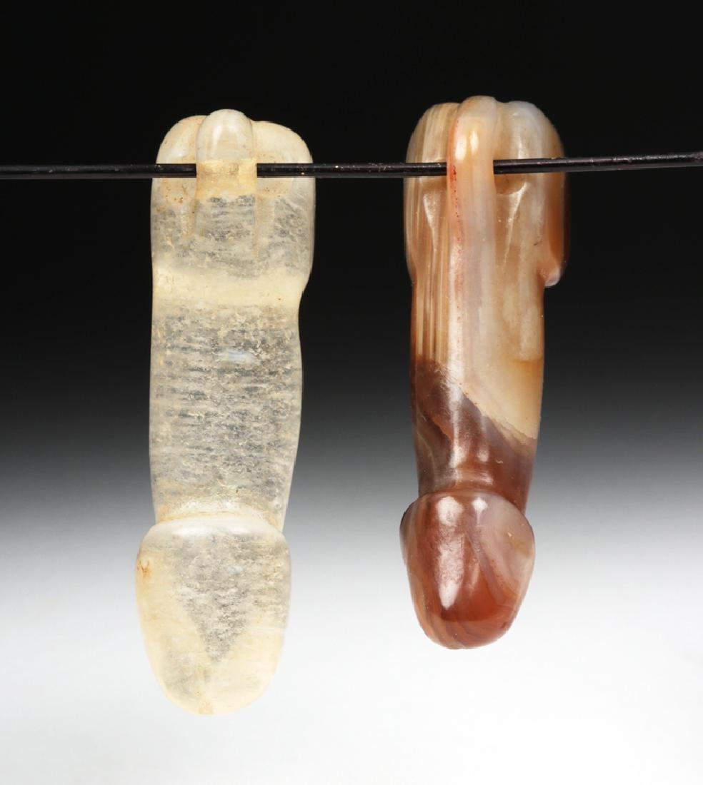 Chinese Qing Dynasty Stone Phallus Pendants (2) - 2
