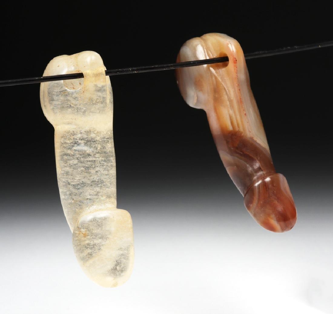 Chinese Qing Dynasty Stone Phallus Pendants (2) - 3