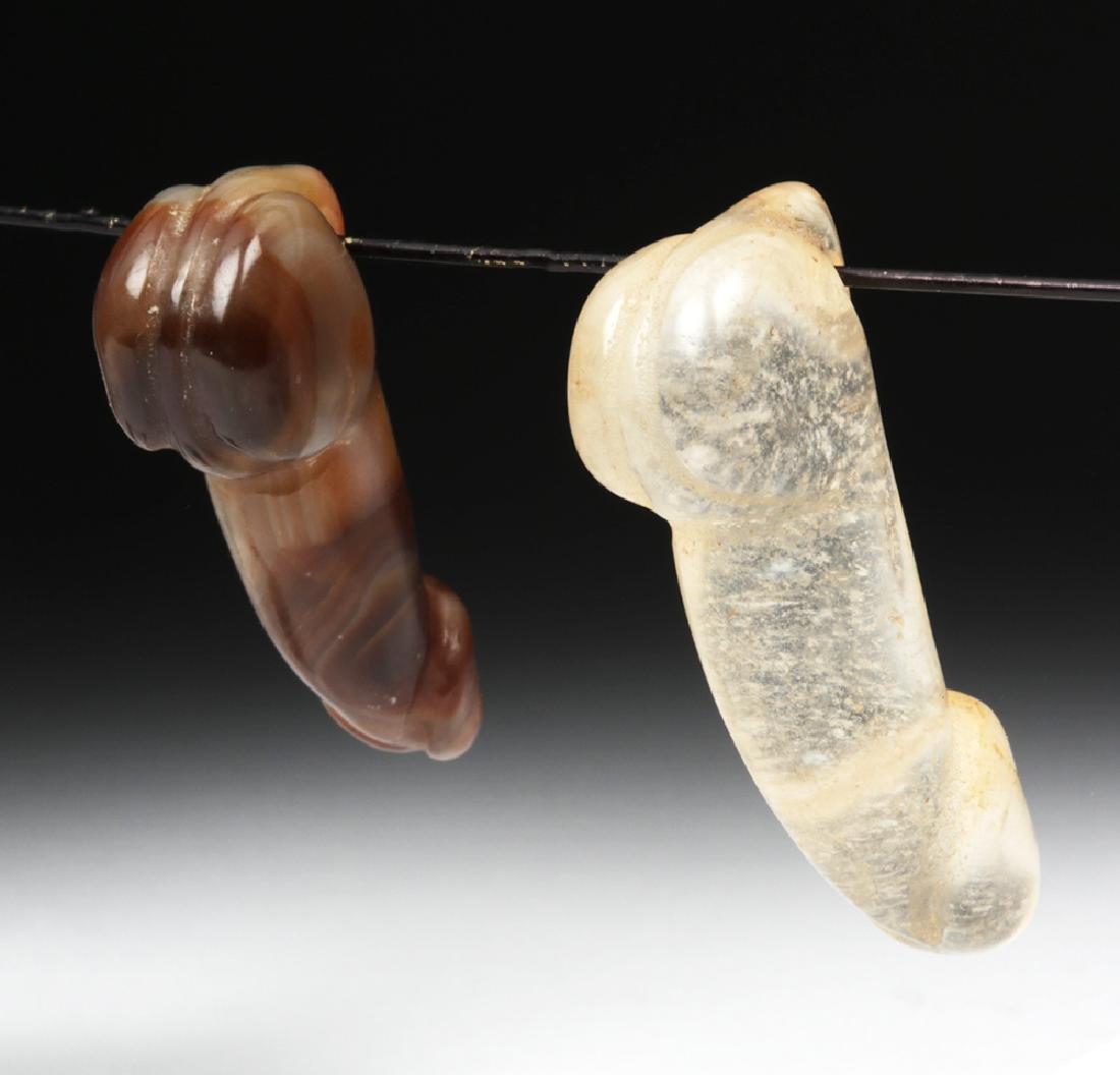 Chinese Qing Dynasty Stone Phallus Pendants (2) - 4