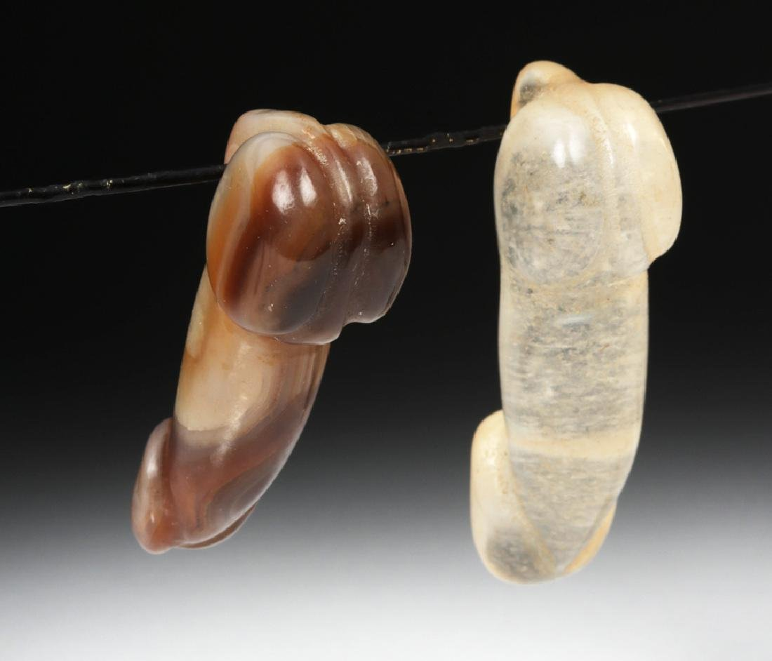 Chinese Qing Dynasty Stone Phallus Pendants (2) - 5