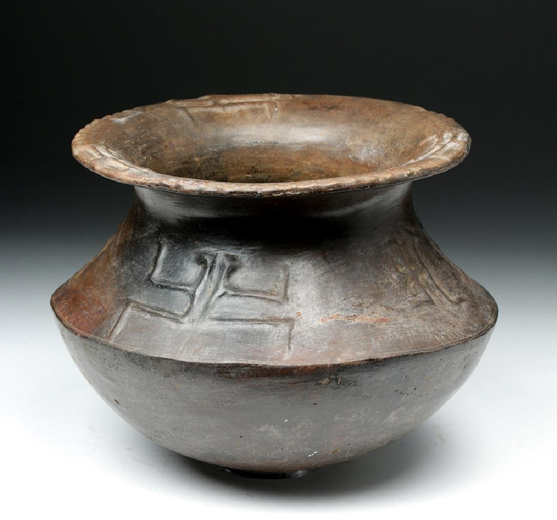 Colombian Horqueta Pottery Jar, Anthropomorphic Figures