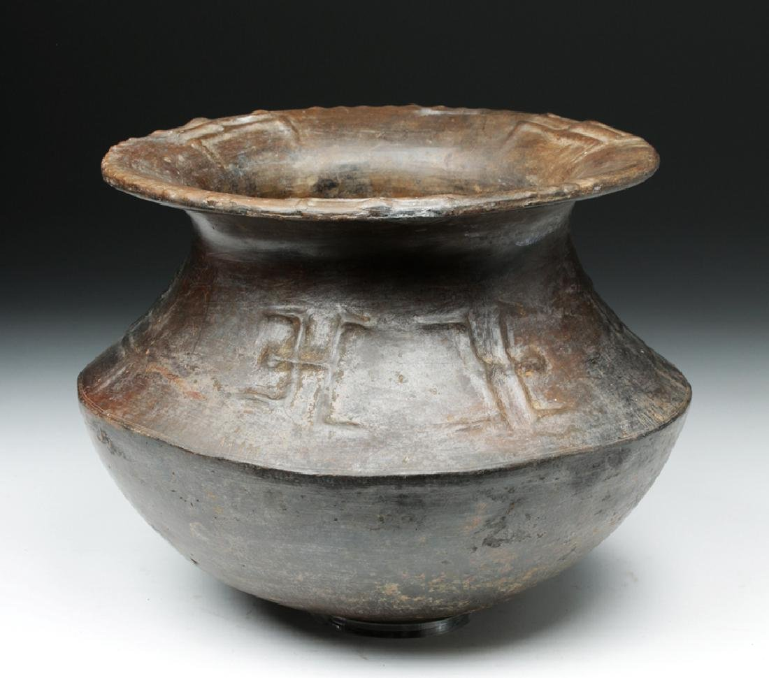 Colombian Horqueta Pottery Jar, Anthropomorphic Figures - 3
