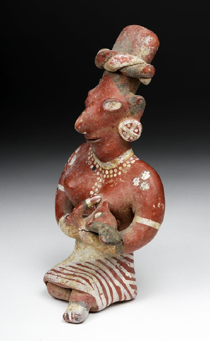 Jalisco Bichrome Sheepface Figure - Mother & Child - 5