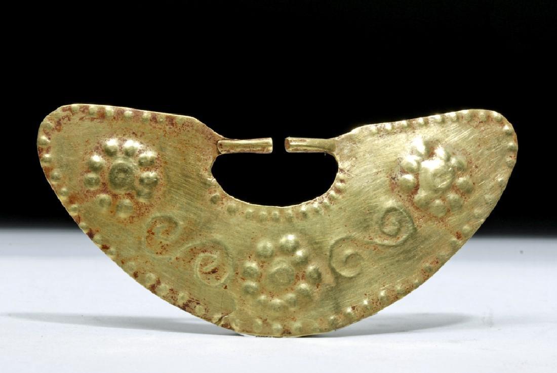 Moche 16K Gold Crescent-Shape Nose Ring, 5.8 gr