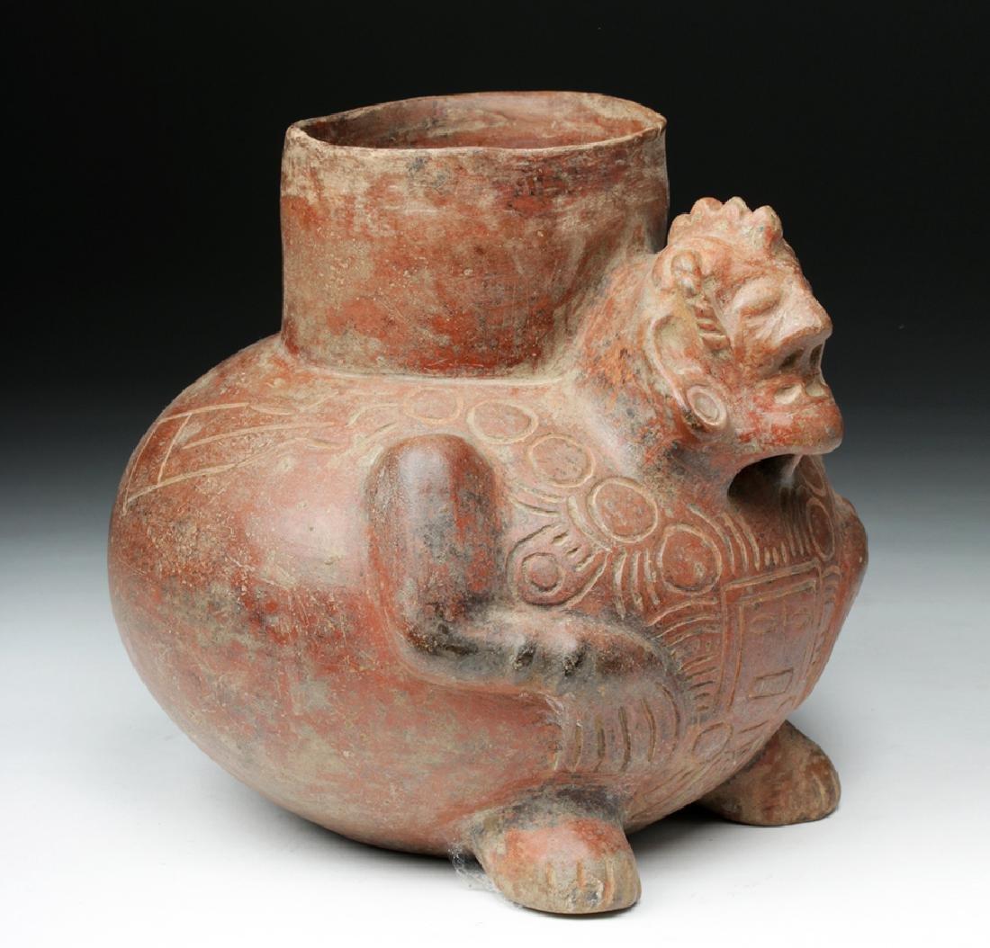 Fascinating Mayan Pottery Figural Vessel - Shaman - 3