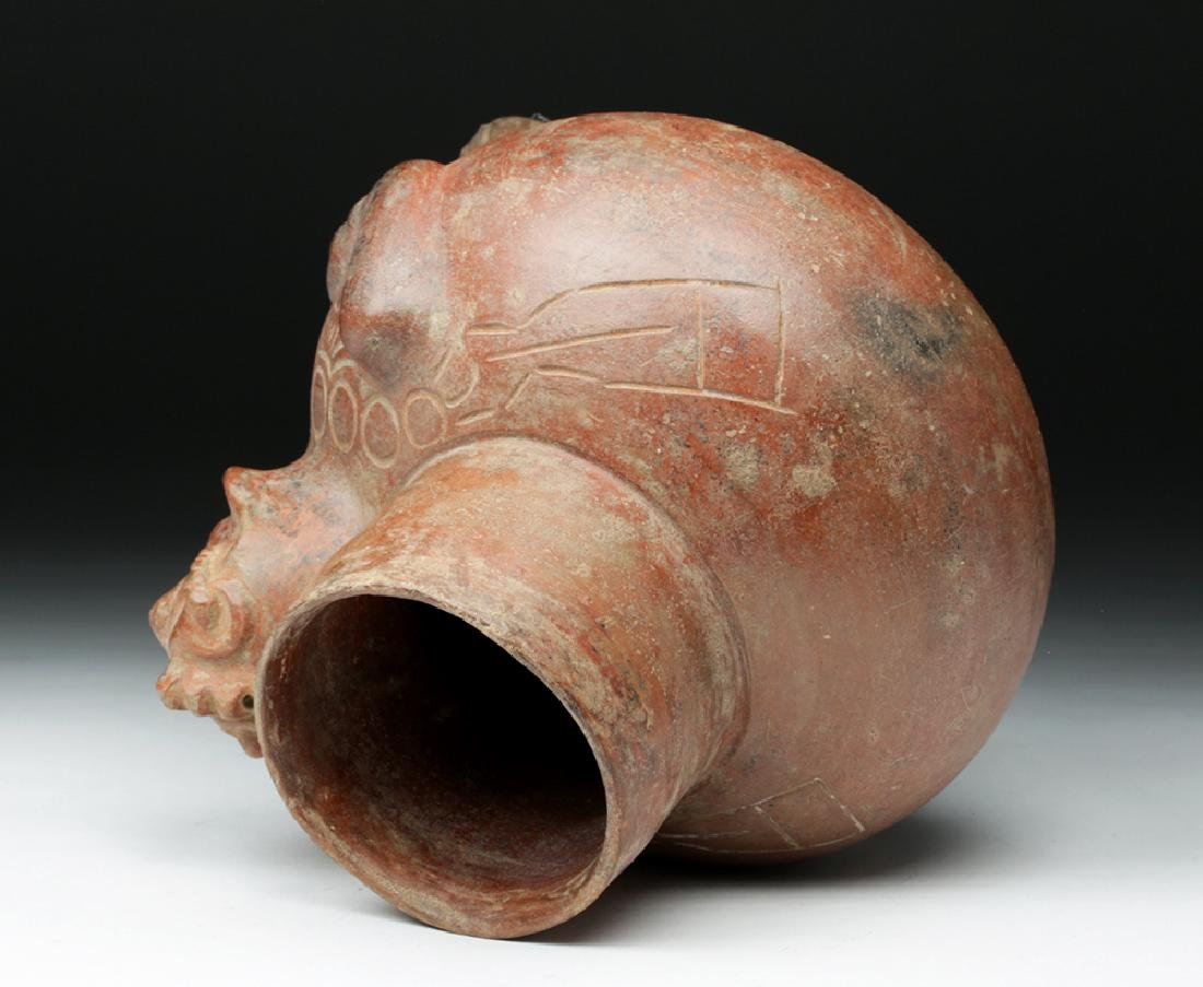 Fascinating Mayan Pottery Figural Vessel - Shaman - 6