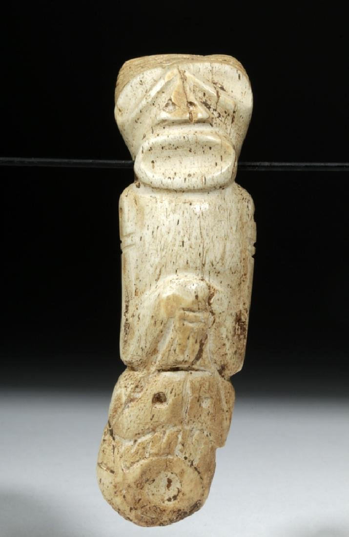 Taino Carved Bone Pendant - Sacred Zemi