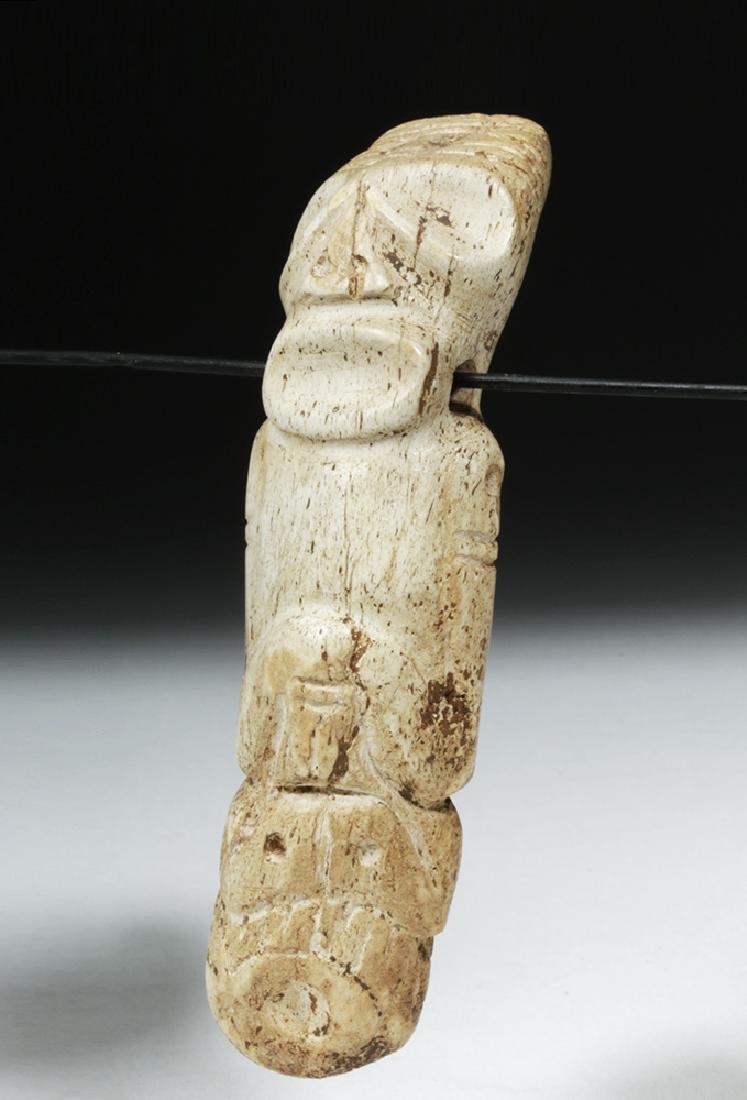 Taino Carved Bone Pendant - Sacred Zemi - 2