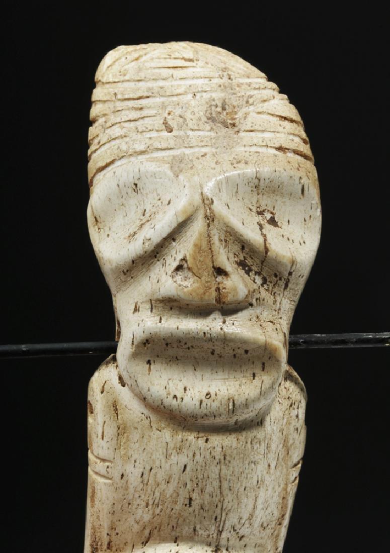 Taino Carved Bone Pendant - Sacred Zemi - 6