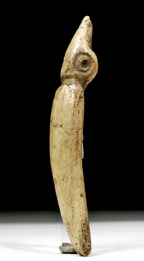 Taino Carved Bone Ceremonial Effigy - Sacred Figure
