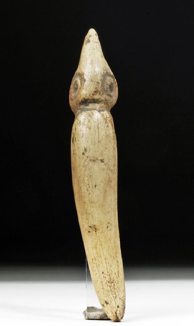 Taino Carved Bone Ceremonial Effigy - Sacred Figure - 2