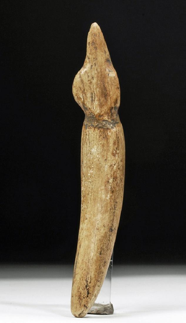 Taino Carved Bone Ceremonial Effigy - Sacred Figure - 3