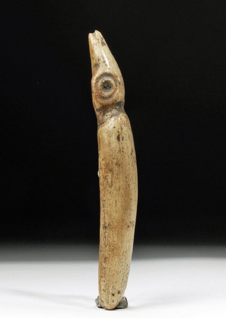 Taino Carved Bone Ceremonial Effigy - Sacred Figure - 5