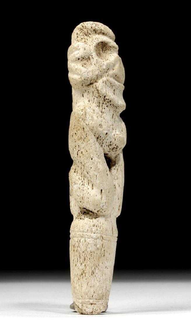 Taino Bone Pendant in Zemi Form - 5
