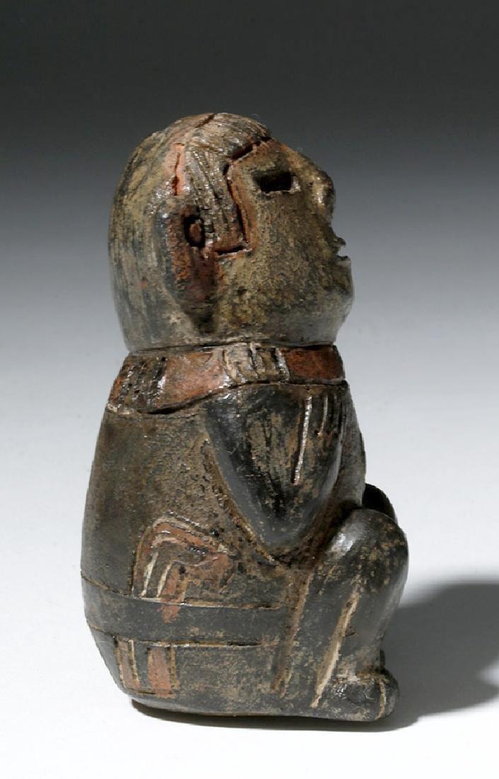 Miniature Chavin Tembladera Seated Figure - 4
