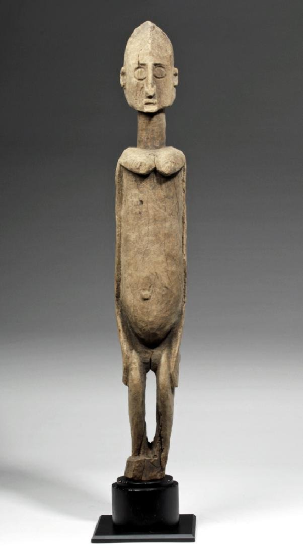 19th C. African Dogon Wood Standing Female Figure