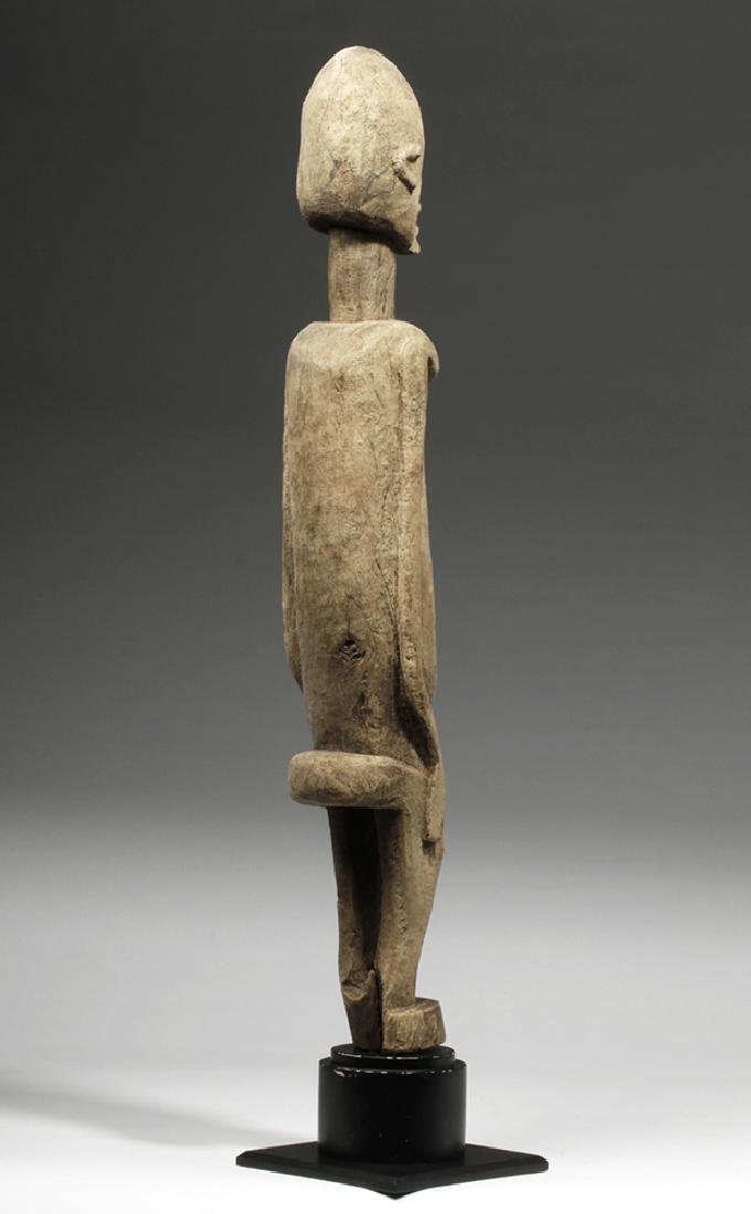 19th C. African Dogon Wood Standing Female Figure - 3
