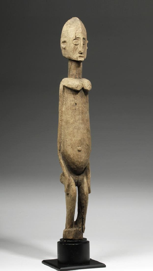 19th C. African Dogon Wood Standing Female Figure - 4