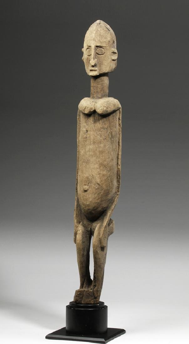 19th C. African Dogon Wood Standing Female Figure - 5
