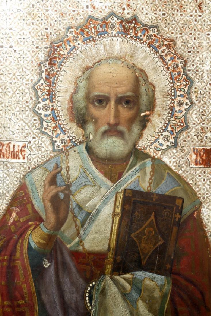 Exhibited 19th C. Russian Icon - St. Nicholas of Myra - 2