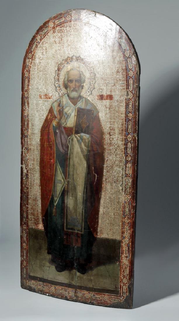 Exhibited 19th C. Russian Icon - St. Nicholas of Myra - 5