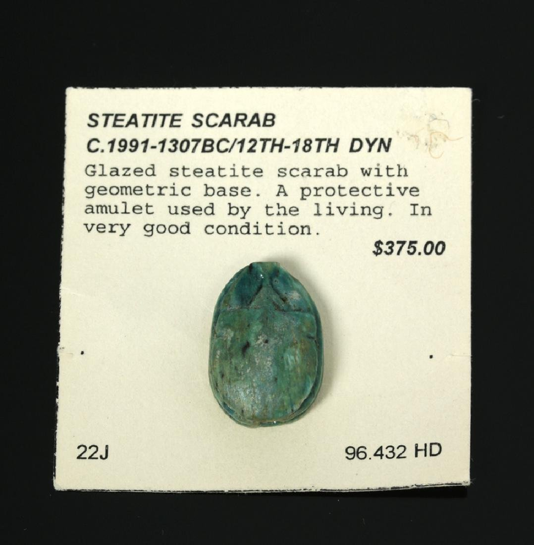 Early / Fine Egyptian Steatite Scarab, ex-Mitry - 2