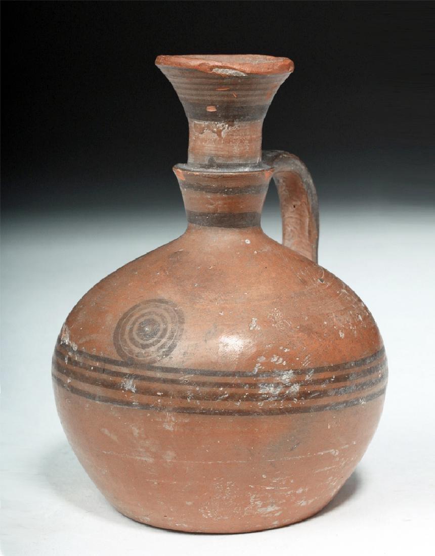 Greek Cypro-Archaic Redware Target Jug