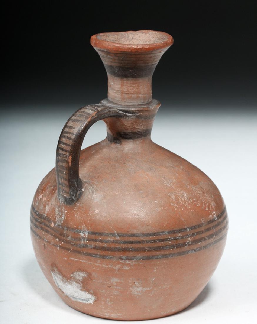 Greek Cypro-Archaic Redware Target Jug - 3