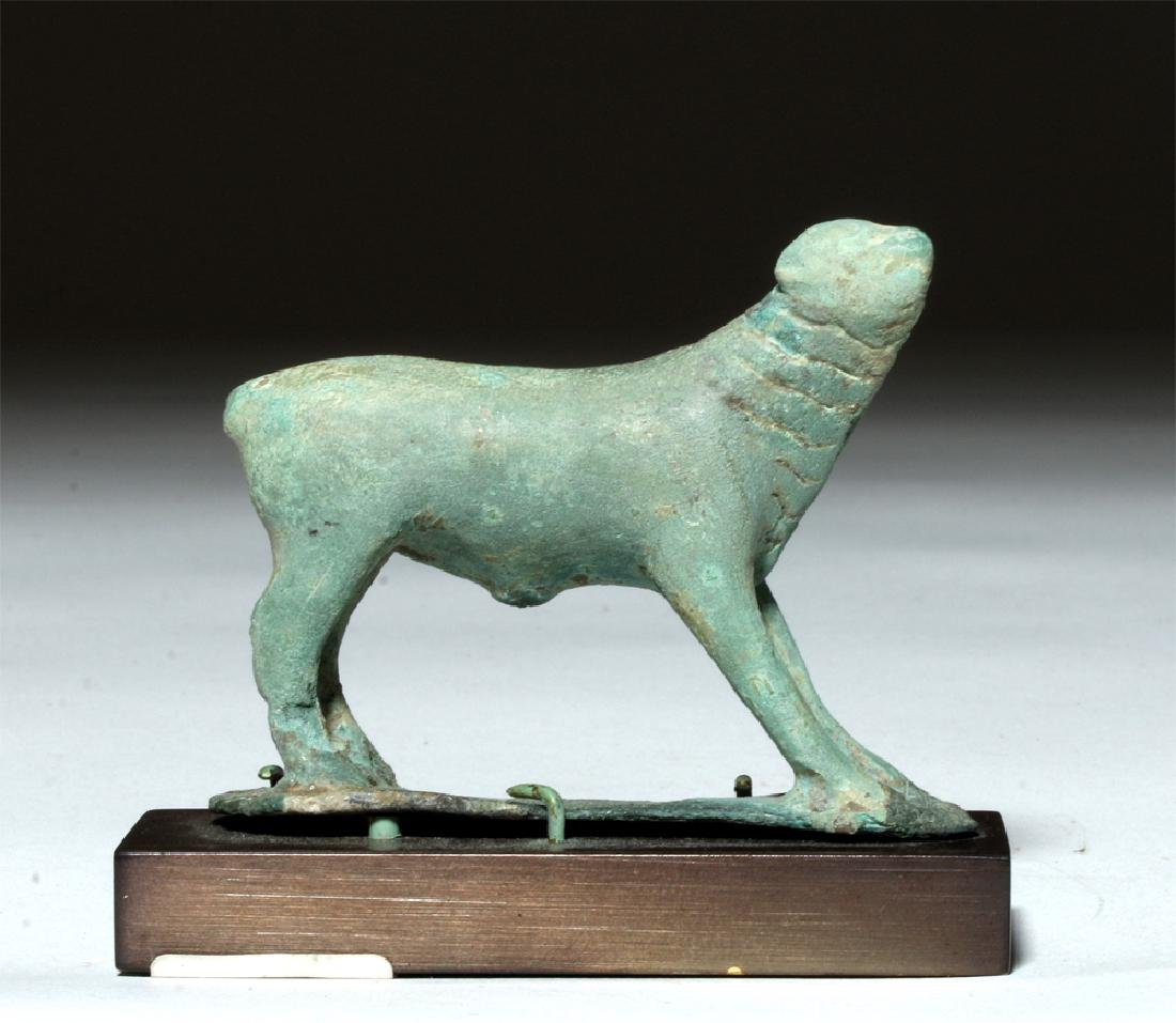 Near-Miniature Greek Bronze Votive - Calf