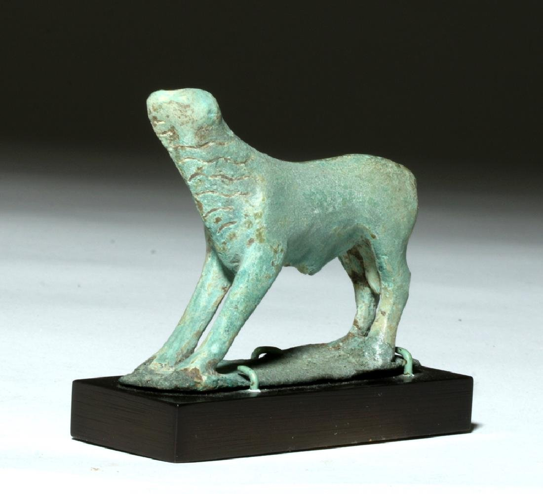 Near-Miniature Greek Bronze Votive - Calf - 3