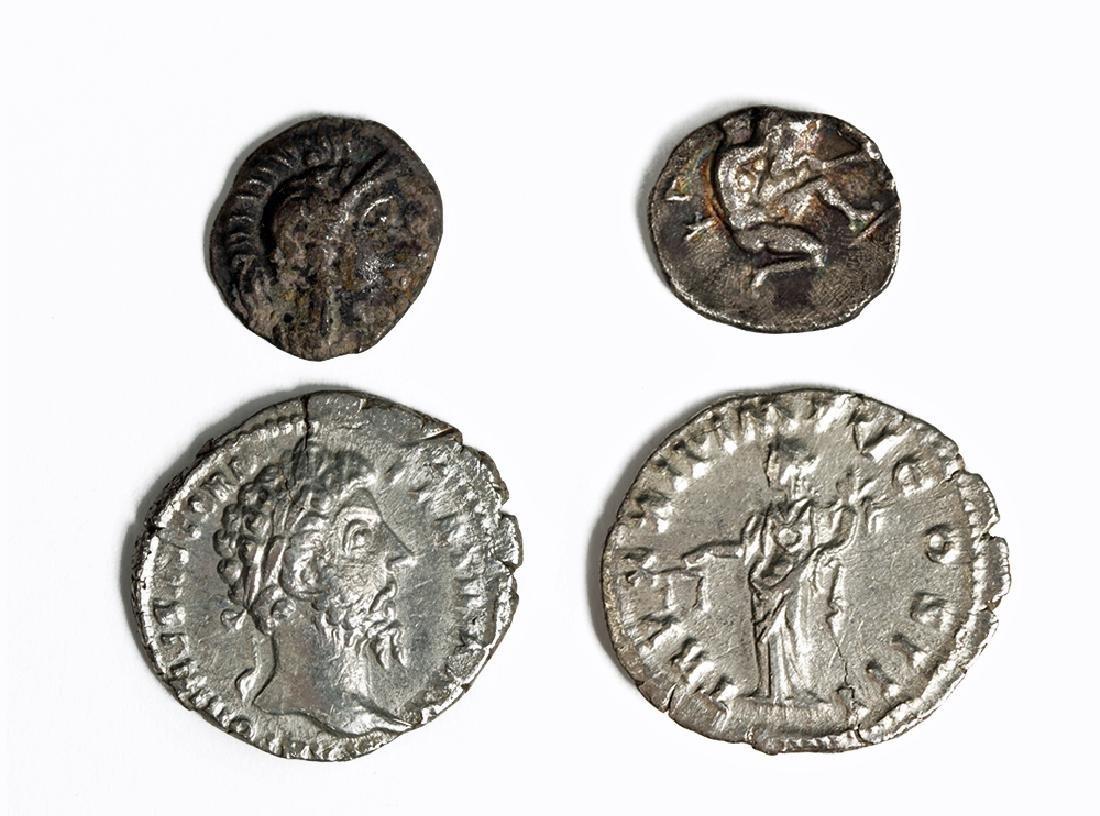 Greek Silver Coin Plus Roman Silver Stater