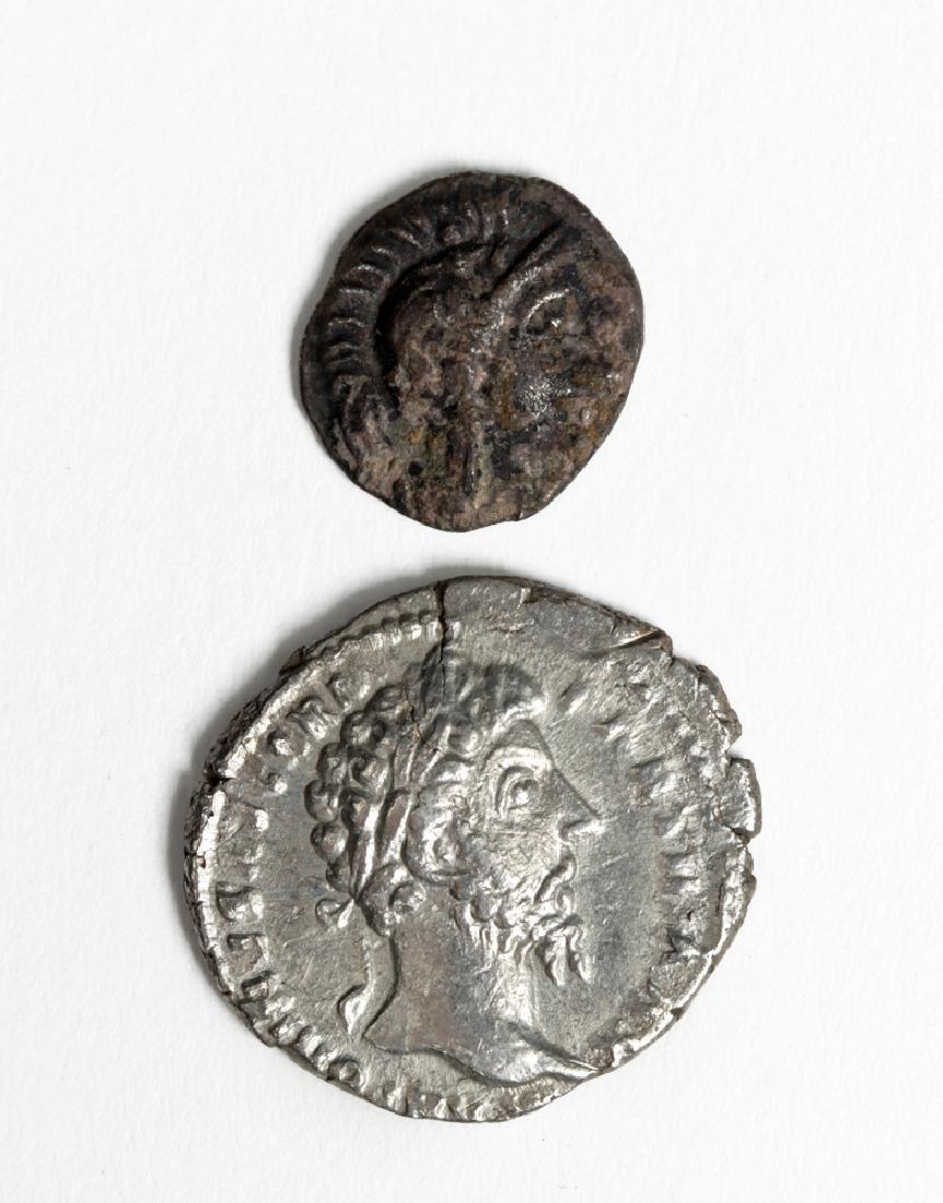 Greek Silver Coin Plus Roman Silver Stater - 2