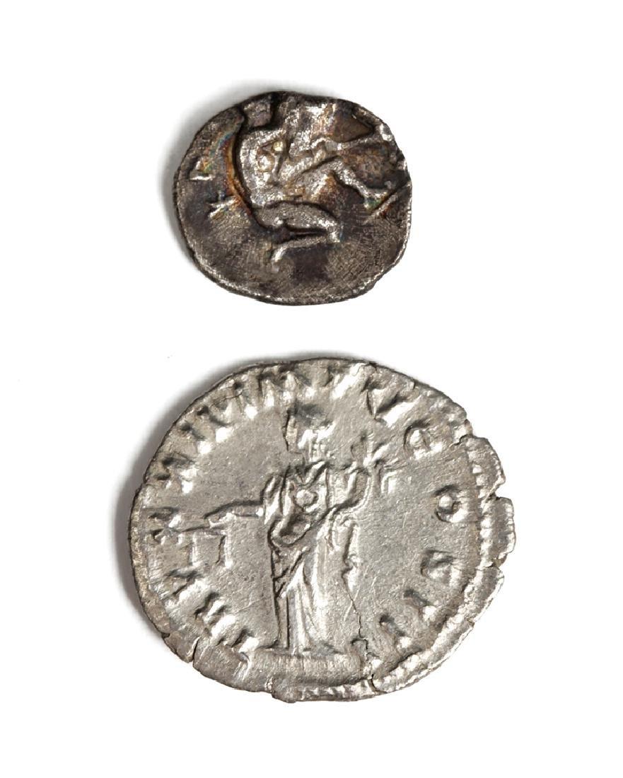 Greek Silver Coin Plus Roman Silver Stater - 3