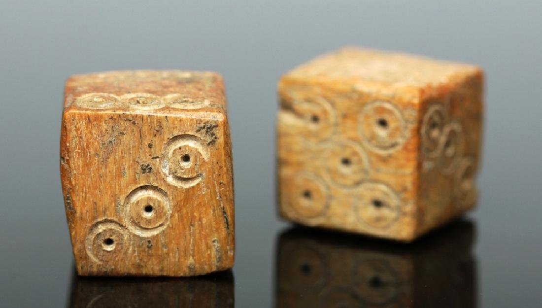 Pair of Roman Imperial Bone Dice