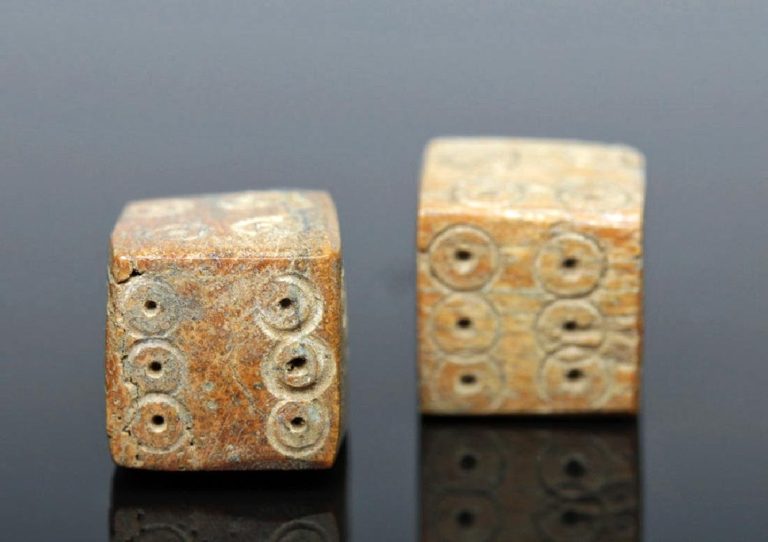 Pair of Roman Imperial Bone Dice - 3